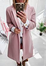 Пальто-кардиган. Просте класичне пальто з кашеміру весна 2021, кольори в асортименті, р. 42-52 Код 5-271G