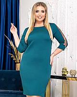 Новинка! Ошатна, гарна сукня, батал, арт А4771, колір бірюза