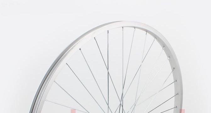 """Колесо 26"""" переднее МТВ обод алюминиевый, втулка 14Gх36Н в сборе, крепл. гайка"""
