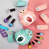 Детский набор для маникюра для девочек с принтером штампом для ногтей Голубой, фото 4
