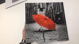 Стеклянная картина - Декор - Красный зонтик 1