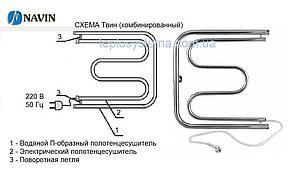 Полотенцесушитель комбинированный Твин 600 х 600 Navin (правое подключение), фото 3