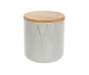 Банка керамическая BonaDi 600 мл с бамбуковой крышкой 304-913