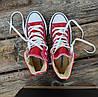 Converse high red високі жіночі конверси шкіряні шкіра деми демісезон копія конверси, фото 5