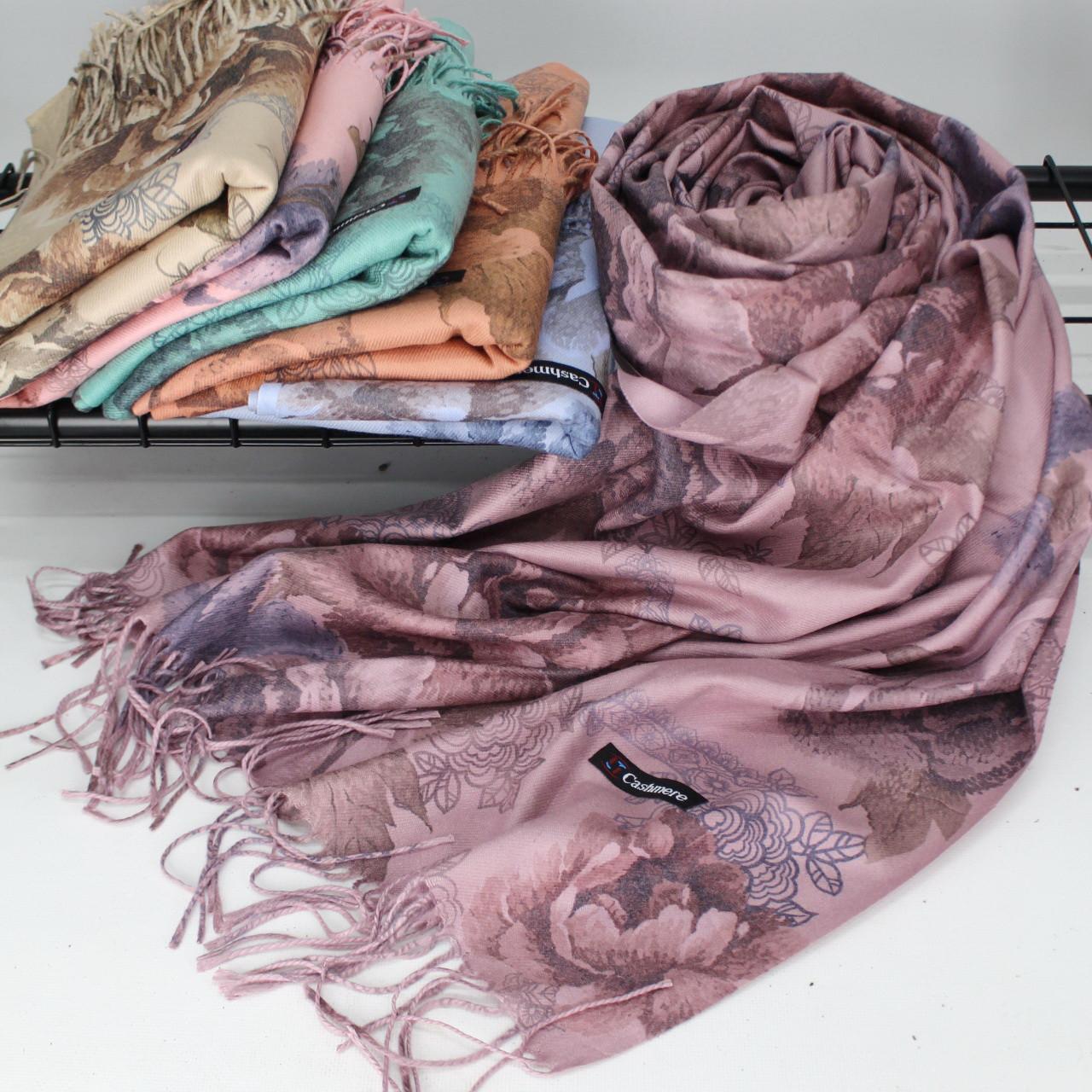 Кашеміровий двухстонный шарф палантин Cashmere 106007