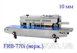 Роликовый конвейерный запайщик горизонтальный для пакетов FRB-770I нерж.,шов 10 мм