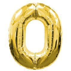 "Фольгована цифра ""0"" Золото (100см) Китай"
