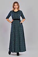 """Роскошное трикотажное платье в пол с принтом """"Louis Vuitton""""."""