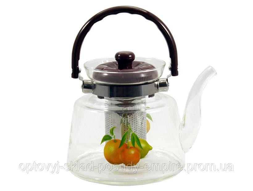 Скляний заварювальний чайник 1200 мл Citrus Interos F44-116 2400 мл