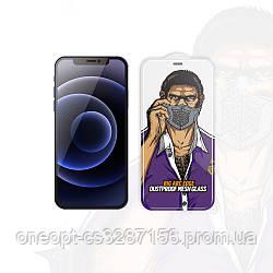 Защитное стекло 2.5D 0,26mm BLUEO 2.5D Dustproof GlassHD для iPhone 12/12pro Black
