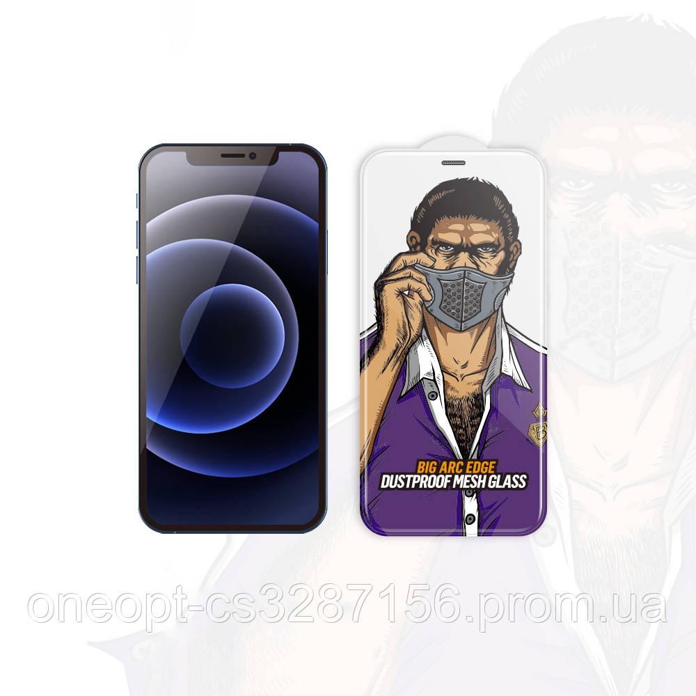 Захисне скло 2.5 D 0,26 mm BLUEO 2.5 D Dustproof GlassHD для iPhone 12/12pro Black