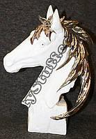 Статуэтка Лошадь с гривой белая, 33 см
