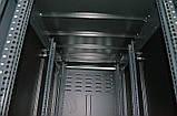 """Шкаф 19 """" 42U , 610х1055 мм ( Ш * Г ) , усиленный , черный, фото 6"""