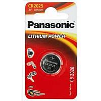 Литиевая батарейка Panasonic Lithium Power CR-2025EL/1B блистер 1 шт.