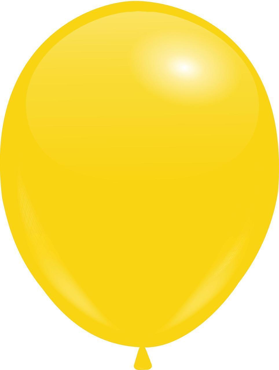 "Кулі 10""/25 см Пастель Темно-Жовті (Lemon)"