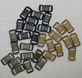 Пластиковая пряжка (фастекс) 3/8(10мм) для браслетов, снаряжения