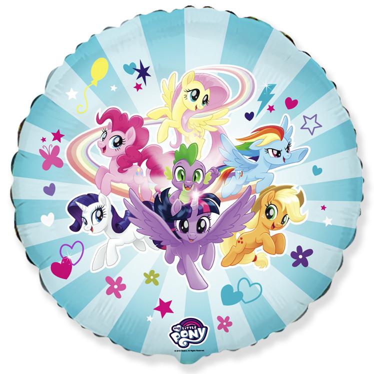"""Коло фольговане 18"""" My little Pony Дружные лошадки"""