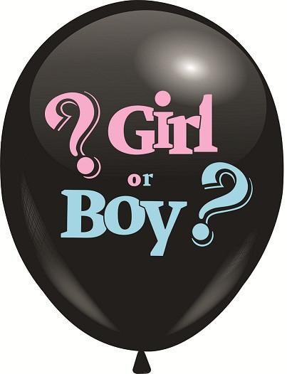 "Повітряні кулі з малюнком 12"" GIRL or BOY (25шт)"