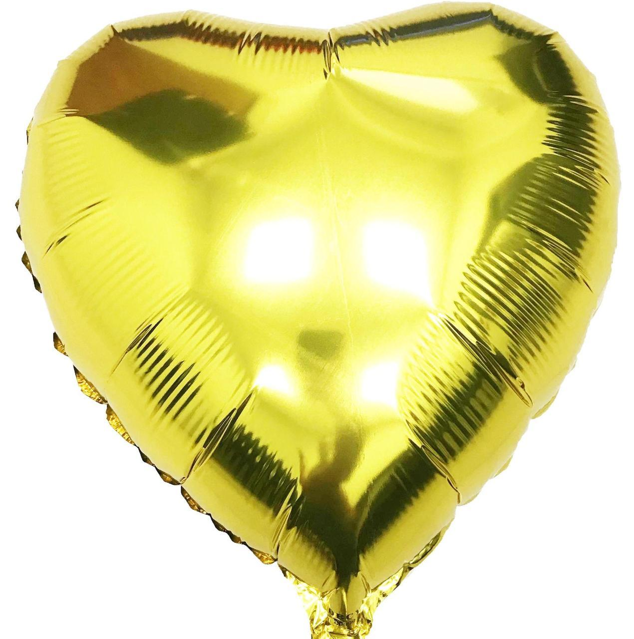 """18""""/45см Серце Золото Китай"""