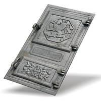 Дверка печная чугунная спаренная 270*490 мм (вес - 10 кг)