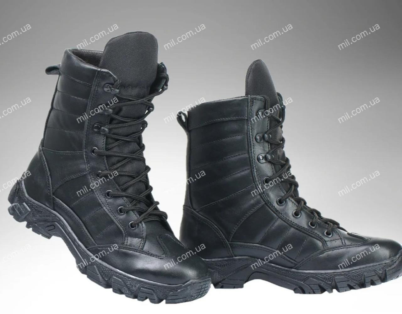 Берці зимові / військова тактична взуття INFERNO Dark V2 (глянц)