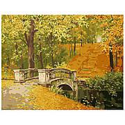 """Набір для розпису по номерах VA-0277 """"Міст у осінь"""", розміром 40х50 см"""