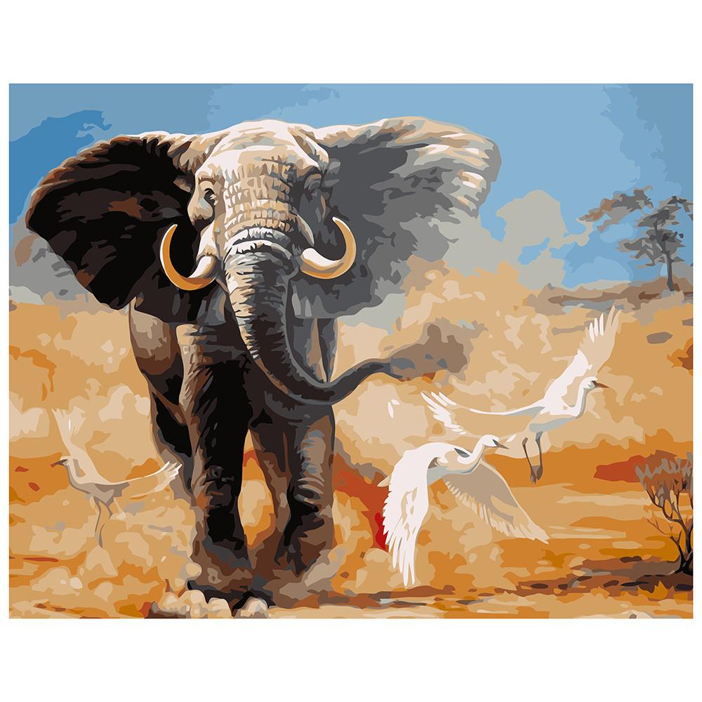 """Набір для розпису по номерах VA-0964 """"Слон"""", розміром 40х50 см"""