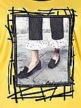 Туніка жіноча Жовтий,Чорний, Гірчичний колір, фото 4