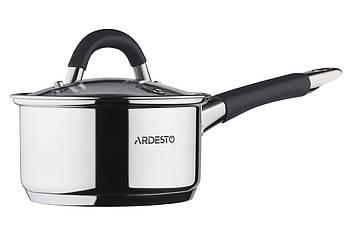 Ковшик кастрюля с крышкой 0,8 л из нержавеющей стали Ardesto Gemini Salerno (AR1908SS)