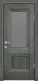 Двері міжкімнатні Канна скло Графіт, Горіх сибірський, 700