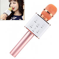 Микрофон караоке беспроводной с колонкой Bluetooth USB Q7