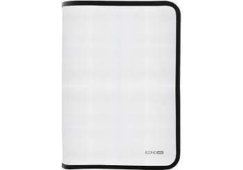 Папка-пенал пластиковая на молнии Economix А4, прозрачная, фактура: ткань молния черная E31644-01(E31644-01)