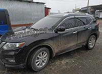 Ветровики с хромом, дефлекторы окон Nissan X-Trail/Nissan Rogue (T-32) 2014-, фото 1