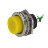 Кнопка DS-212 без фіксації OFF-(ON), жовта