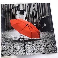 Декоративная контрастная картина на стекле Зонтик
