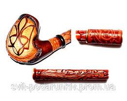 Оригинальная длинная курительная трубка «Тризуб», фото 3