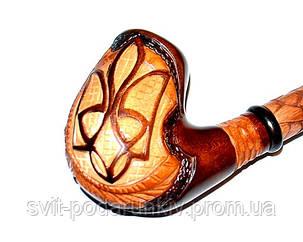 Оригинальная длинная курительная трубка «Тризуб», фото 2