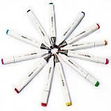 Скетч маркеры для художников Touch Smooth 48 шт фломастеры двусторонние спиртовые для рисования и скетчинга, фото 9