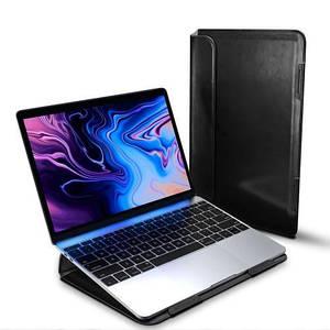 "Папка-конверт для MacBook Leather standing pouch 15"" black"