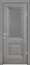 Двері міжкімнатні Канна скло Графіт, Горіх Скандинавський, 600