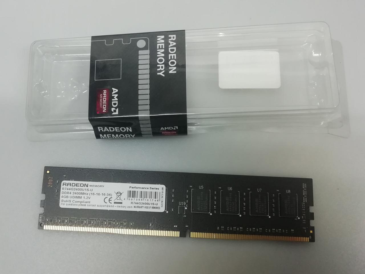 Пам'ять для комп'ютера 4GB DDR4 2400MHz AMD Radeon