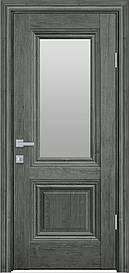 Двері міжкімнатні Канна скло Сатин, Горіх сибірський, 800