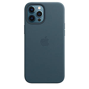 Чохол накладка xCase для iPhone 12/12 Pro Leather case with Full MagSafe Blue