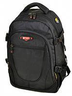 Рюкзак міський для ноутбука (31х45х20см) нейлон Power In Eavas 9607 чорний, фото 1