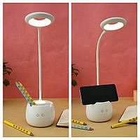 Лампа настольная аккумуляторная с ночником.Качество!