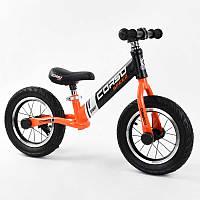 """Велобег оранжевый """"CORSO"""" 24846 стальная рама, колесо 12"""", надувные колёса"""