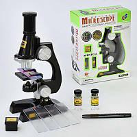 Микроскоп С 2119 с аксессуарами, на батарейках