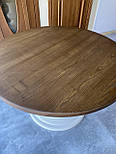 Круглий стіл з великою опорою з масиву дерева, фото 10