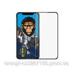 Защитное стекло 2.5D 0,26mm BLUEO 3D HD Tempered Glass для iPhone XR/11 Black