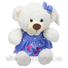 """Мягкая игрушка """"Мишка"""", в синем платье B1014"""